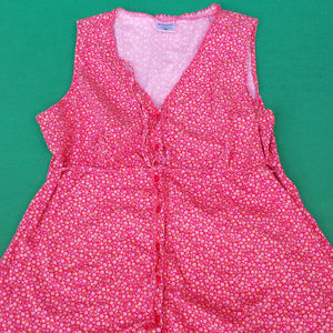 Motherhood sleeveless top red with floral print